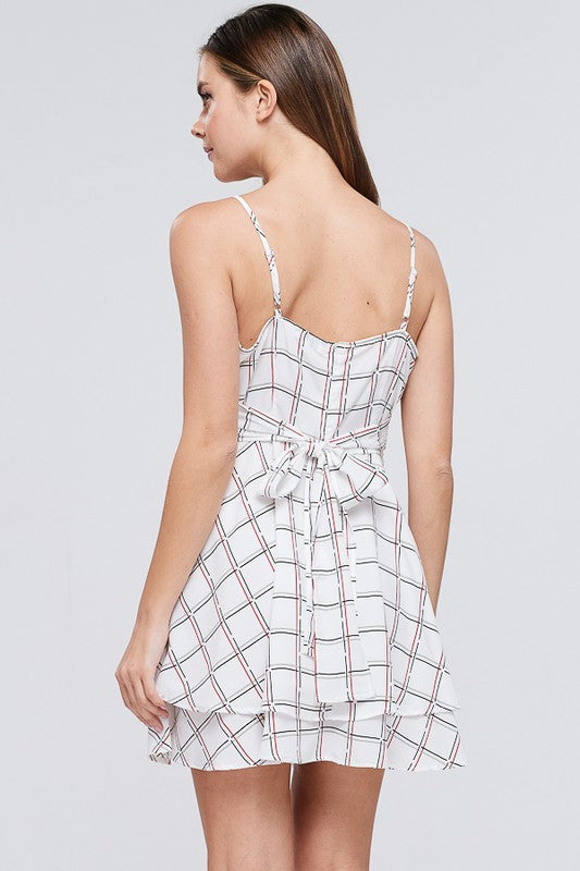 Plaid Mini Dress Free Shipping