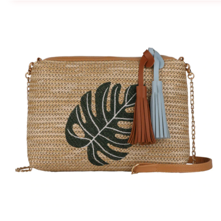 Embroidered Straw Shoulder Bag | CraveLyfe