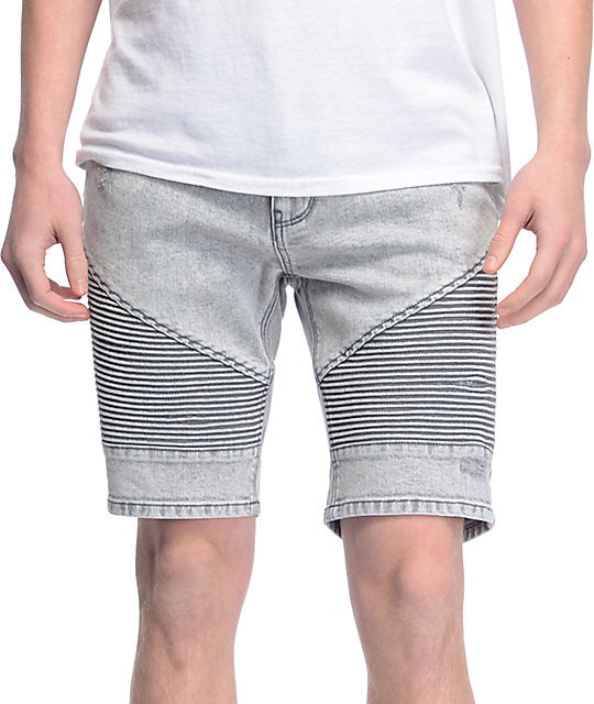 Ninth Hall Slim Fit Biker Shorts (Grey)