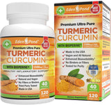 Best Organic Turmeric Curcumin, BioPerine 1500mg. Joint & Healthy Inflammatory Support, 95% Standardized Curcuminoids. Non-GMO, Gluten Free Capsules, Black Pepper