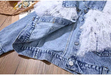 Load image into Gallery viewer, RB Kids Dotty Tulle Denim Jacket
