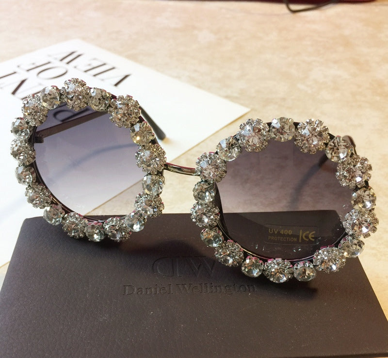 Angelica Silver Diamond Sunglasses
