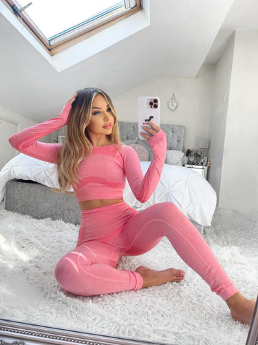 Georgie Pink Loungewear/Gym Set