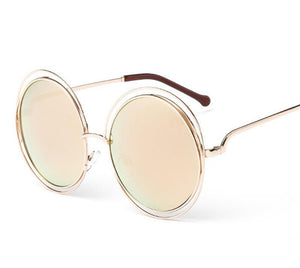 Circle Gold Light Tint Sunglasses
