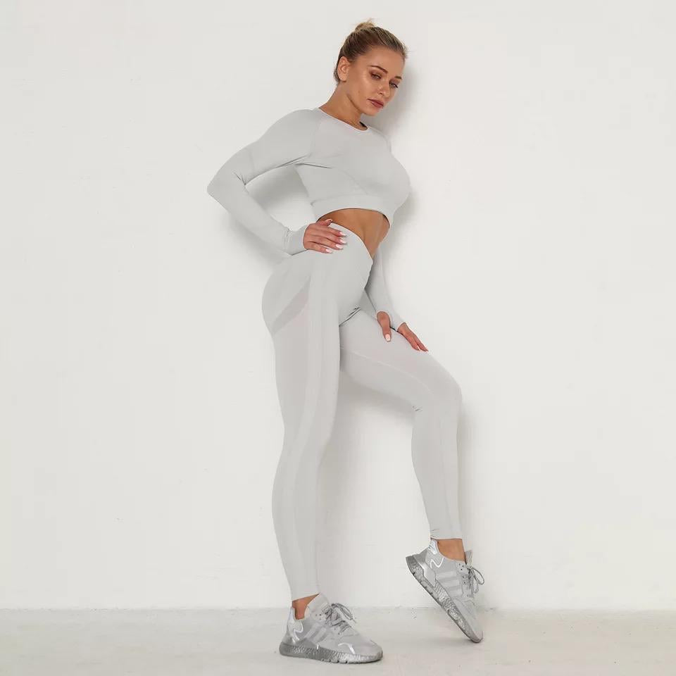 Duchess Light Grey Loungewear/Gym Set