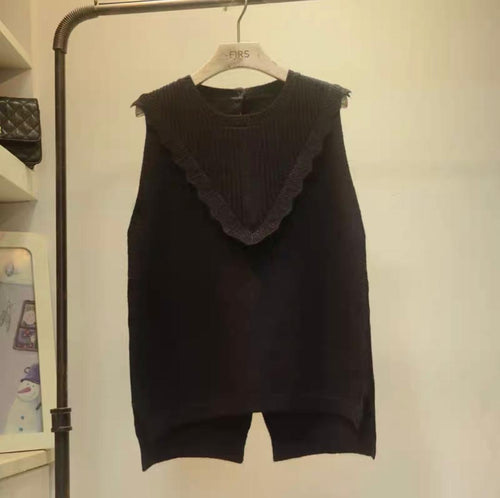 Kaci jay Black Knitted Tank
