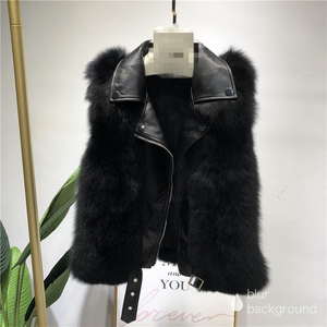 Sinner Faux Fur Gilet Black