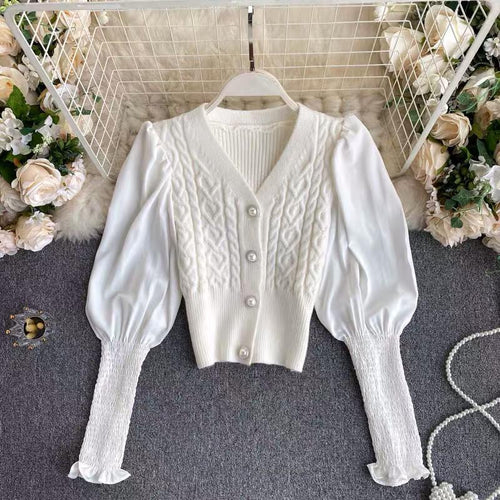Sadia White Knitted Cardigan