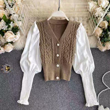 Load image into Gallery viewer, Sadia Beige Knitted Cardigan