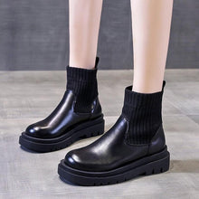 Load image into Gallery viewer, Vincenza Black Chunky Boots