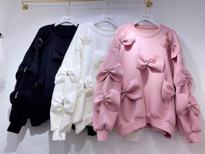 Una Pink Bow Sweater/Top