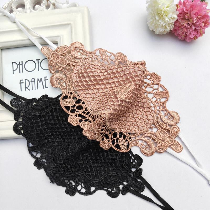 Crochet Face Mask Black