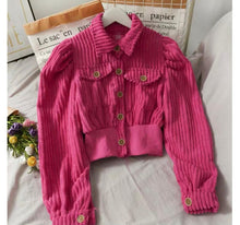 Load image into Gallery viewer, Sansa Corduroy Cardigan Pink