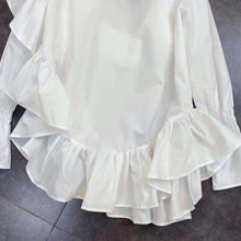 Load image into Gallery viewer, Blaise Ruffle White Shirt Dress