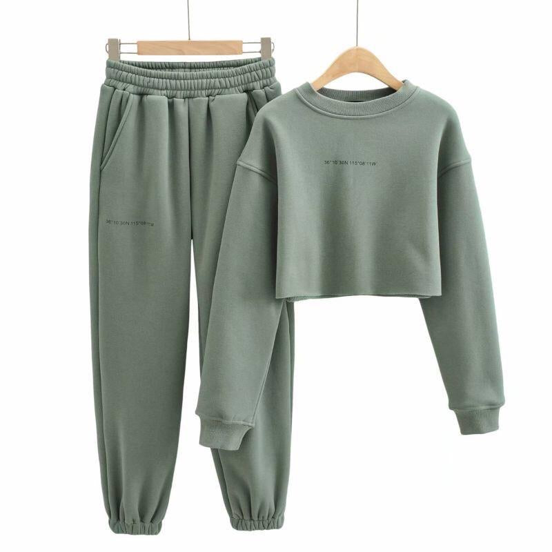 Olivia Green Tracksuit Set