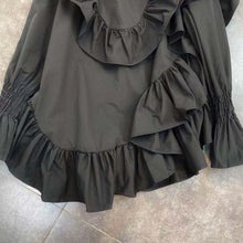 Load image into Gallery viewer, Blaise Ruffle Black Shirt Dress