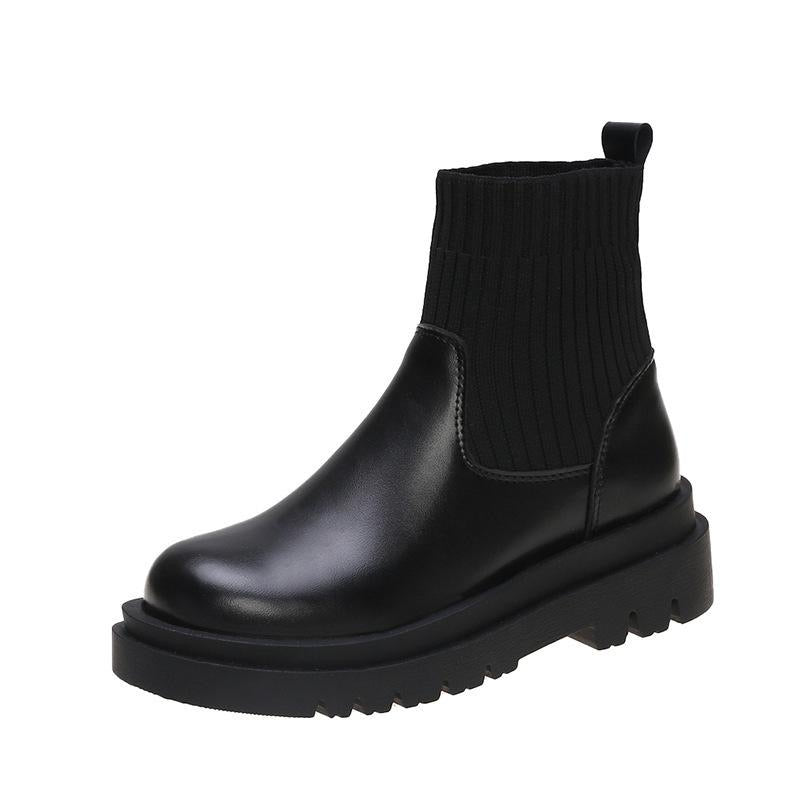 Vincenza Black Chunky Boots
