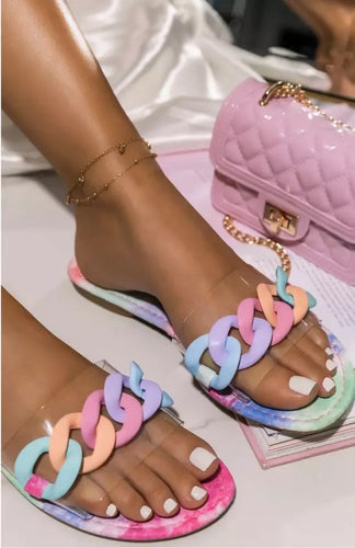 Chain Coloured Sandal/Shoes