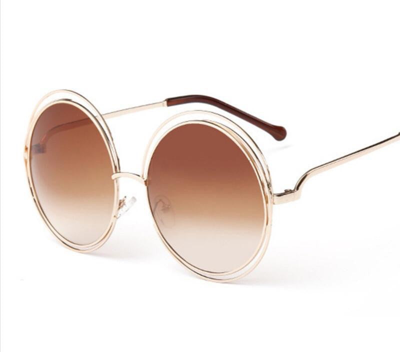 Circle Gold Dark Tint Sunglasses