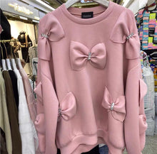Load image into Gallery viewer, Una Pink Bow Sweater/Top