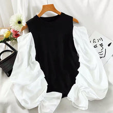 Load image into Gallery viewer, Kristal Black Knitted Cold Shoulder Jumper