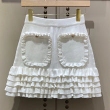 Load image into Gallery viewer, Florence Ruffle Knit Skirt Cream