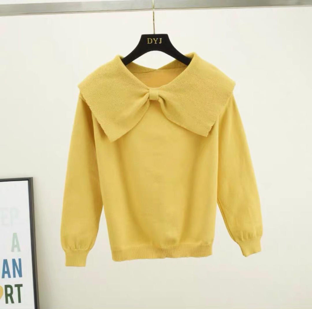 Rovi Yellow Knitted Jumper