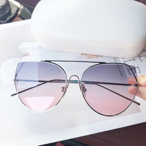 Retro Blue Tint Sunglasses