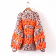 Load image into Gallery viewer, Nicholson Brown/Orange Chunky Cardigan