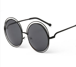 Circle Black Tint Sunglasses