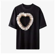 Load image into Gallery viewer, Tulle Heart Black Tee