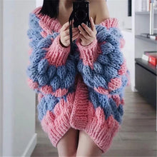 Load image into Gallery viewer, Nicholson Pink/ Blue Chunky Cardigan