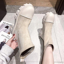 Load image into Gallery viewer, Gracie Beige Suede Boots