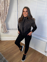Load image into Gallery viewer, Melody Black Studded Tracksuit Set