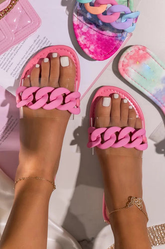 Chain Pink Sandal/Shoes