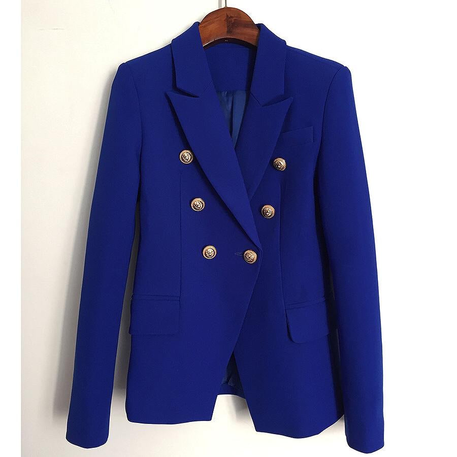 Double Breasted Jacket Cobalt Blue