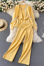 Load image into Gallery viewer, Ruiz Yellow Knitted Loungewear Set