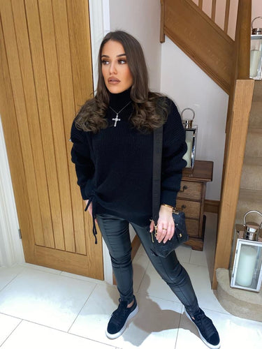 Mikey Black Knitted Jumper