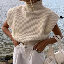 Load image into Gallery viewer, Calla Cream Padded Shoulder Top