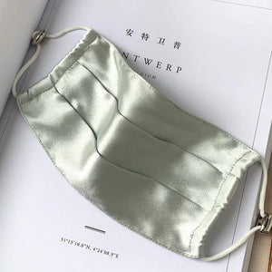 Satin Face Mask Green