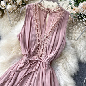Juno Pink Playsuit