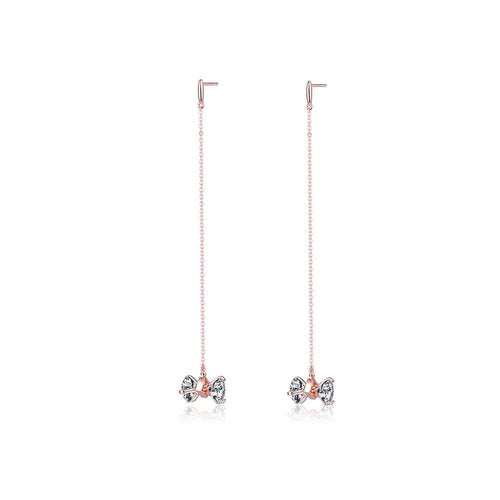 OOPS JEWELRY | 2 MY LOVE EARRING -LONG (ROSE GOLD) | ZZEP00700