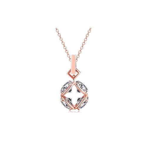 OOPS JEWELRY | 4 FOR YOU NECKLACE (ROSE GOLD) | ZZNP00400