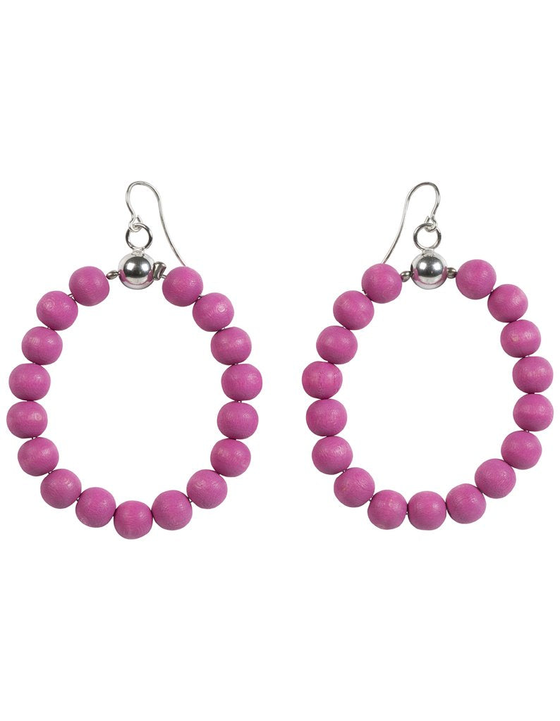 AARIKKA | S_DE EARRINGS (PINK/ SILVER) | A6827