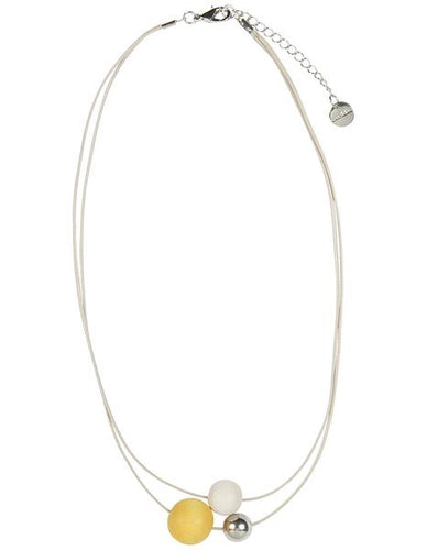 AARIKKA | MINITELLUS NECKLACE 50/23 (YELLOW/ WHITE) | A6842