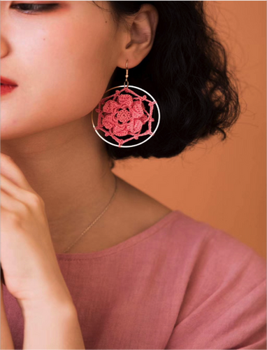 SHOKAY | FLORAL SERIES PETAL EARRINGS (CORAL) | AC-ER-FL_CRL