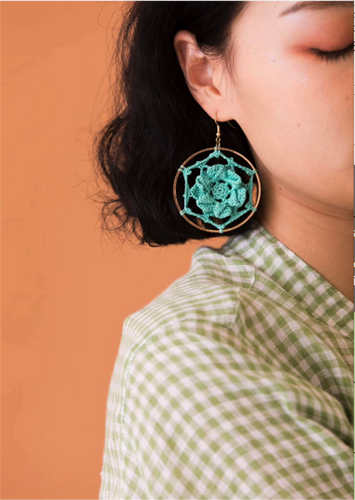 SHOKAY | FLORAL SERIES PETAL EARRINGS (DOWN BLUE) | AC-ER-FL_DB