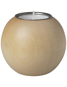 AARIKKA | POUTA TEALIGHT CANDLE HOLDER 6.5CM (VARNISHED WOOD) | B6634