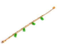 TRACEY CHEN | GEOMETRY BRACELET OF GREEN BURMA JADEITE (ROSE GOLD) | D008