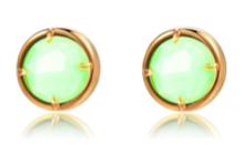 TRACEY CHEN | GEOMETRY STUDS OF GREEN BURMA JADEITE SMALL CIRCLE SHAPE (ROSEGOLD) | G071